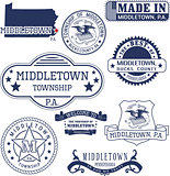 generic stamps and signs of Middletown, PA