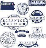 generic stamps and signs of Scranton city, PA