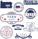 generic stamps and signs of York city, PA