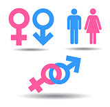 Symbols of men and women