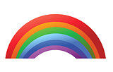 Colorful Rainbow template isolated on white background