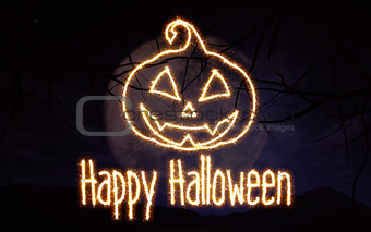 3D Sparkle effect Halloween background