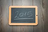 2015 on chalkboard