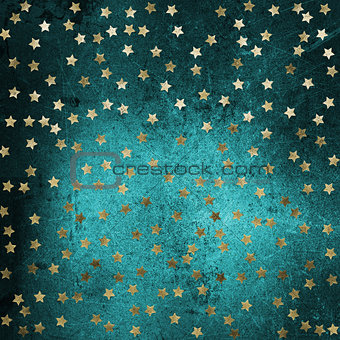 Grunge background with gold stars