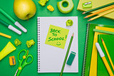 Back to school with stick note