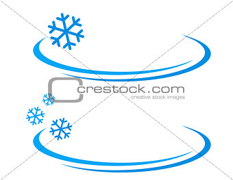 background with blue snowflake