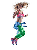 woman fitness excercises zumba dancer dancing