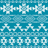 Seamless Navajo hand drawn print, retro Aztec pattern, Tribal design with scratches