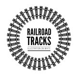 Railroad tracks vector llustration