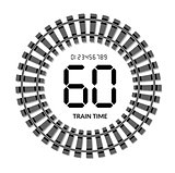 Railway clocks vector illustration