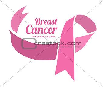 Breast cancer awareness vector symbol