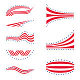 USA star flag logo stripes design elements