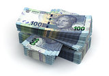 Stack of South African Rand
