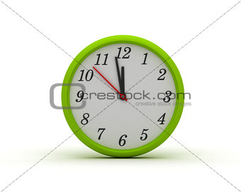 Green Round Wall Clock