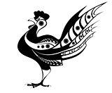 Rooster original  illustration