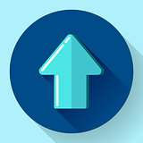 Illustration of blue Flat Download Upload Icon