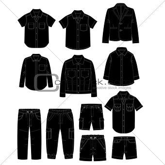 Boys clothes. Sketches