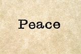 Peace Typewriter Type
