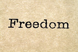 Freedom Typewriter Type