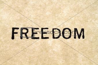 Freedom Typewriter Type
