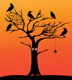 Vector Spooky Tree