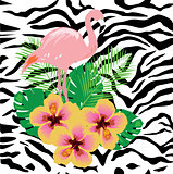 Vector Flamingo Tropical