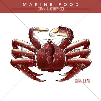 King Crab. Marine Food
