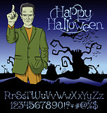 Vector Cartoon Frankenstein Halloween