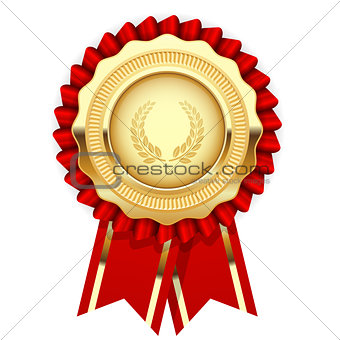 Blank award template - rosette with golden medal