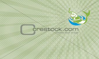 Fish and Hook Fishing Supplies Business Card