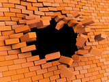 brick wall crash