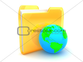 folder with earth