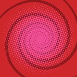 spiral red comics retro background
