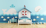 Kids room in marine style