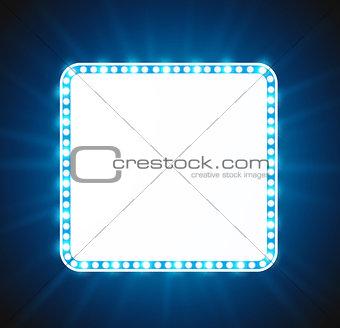 Blue luxurious retro banner