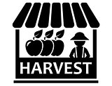 fruit harvest on market icon