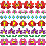 Seamless Hungarian folk art pattern - floral Kalocsai embroidery