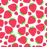 Seamless strawberries pattern. Vector illustration.
