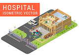 Isometric vector hospital