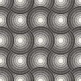 Vector Seamless Black and White Mosaic Pavement Pattern