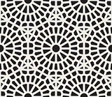 Vector Seamless Black And White Geometric Lace Grid Pattern