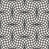 Vector Seamless Black and White Wavy Lines Lattice Pattern