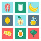 Healthy eating set