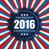 Presidential Election 2016 in USA Background. Can Be Used as Ban