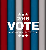 Presidential Election Vote 2016 in USA Background. Can Be Used a