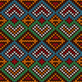 Ethnic knitting motley ornate seamless pattern