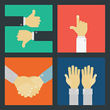 Business Hand Signs Kit