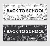 Back to School Concept Banner