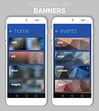 Blurred Polygonal Banners Kit