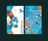 Abstract vector polygonal design brochure templates